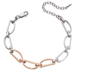Picture of D Ring Bracelet In Silver & Rose Gold